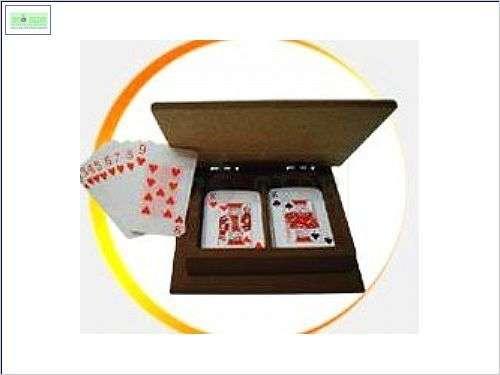 caixa para baralho em MDF