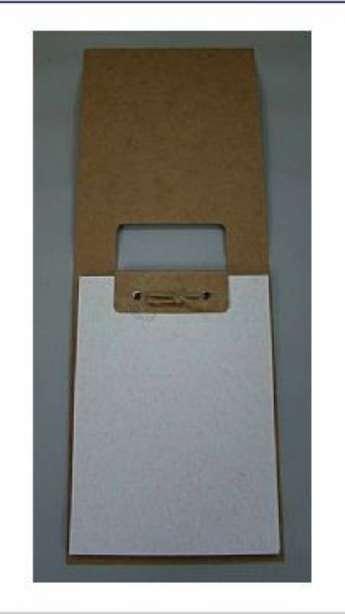Foto: Bloco em papel kraft reciclado