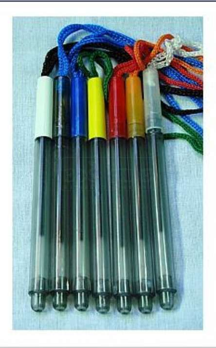 caneta em pet reciclado com cordão