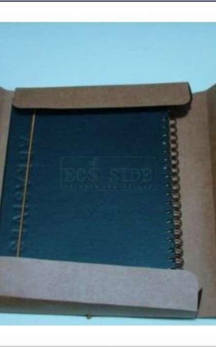 caixa para caderno em papel kraft