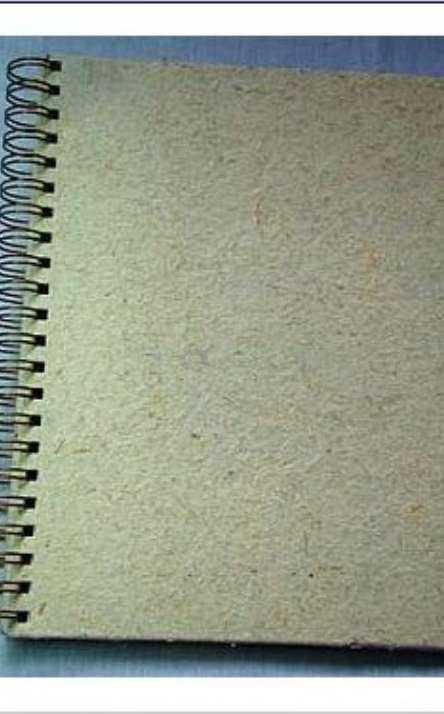 capa em papel artesanal de cana branqueada