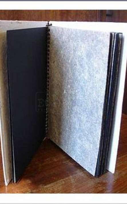album de fotos em papel artesanal com espiral