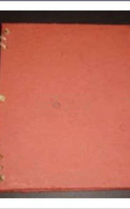 album de fotos sanfonado em papel artesanal