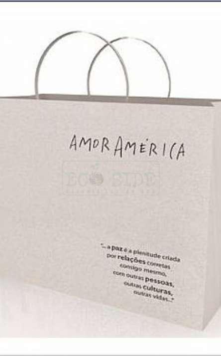 sacola em papel reciclado