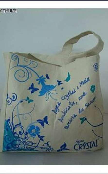 sacola em lona de pet reciclada