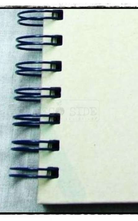 Acabamento em wire-o duplo metalico