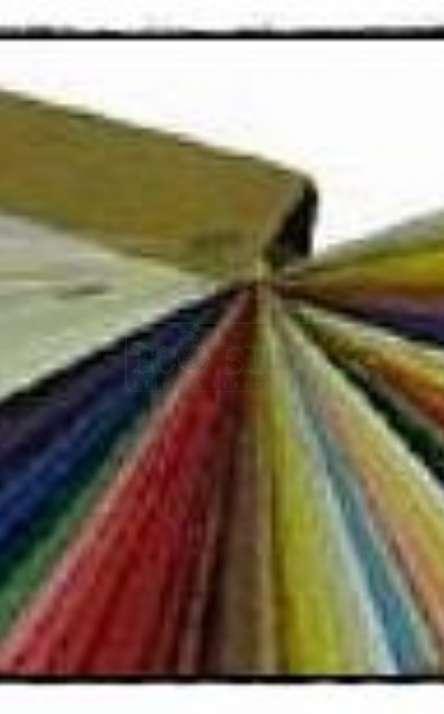 Paleta de cores de papel artesanal de fibras naturais