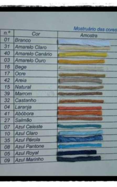 Paleta de cores de cordão de papel kraft colorido
