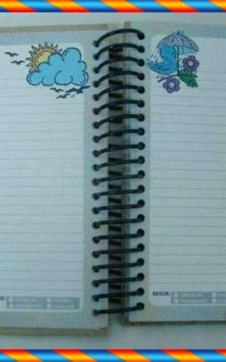agenda escolar modelo infantil em papel reciclado