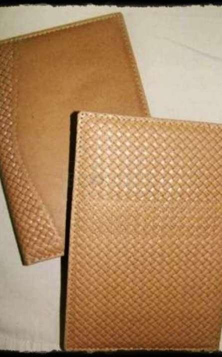 Agenda ecologica capa costurada em recouro modelo diario