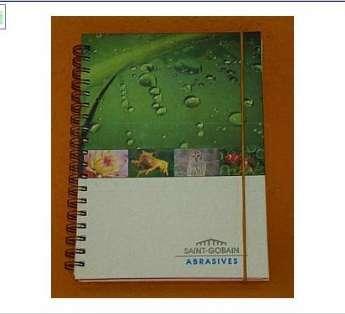 Caderno reciclado Capa Dura 18x25 cm