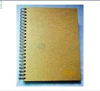 Caderno Capa Dura de Papel Artesanal