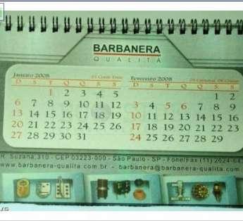 Foto: Calendario com base tipo capa dura