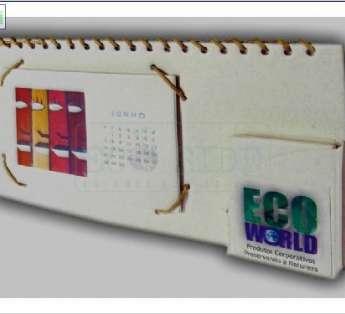 Calendario com Cartão Postal