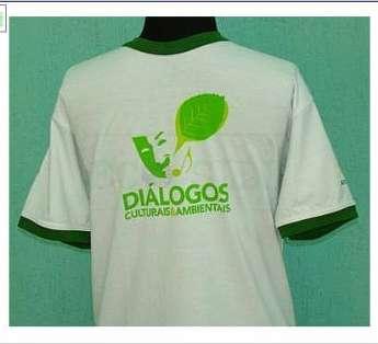 Foto: camiseta em malha de pet reciclada gola careca
