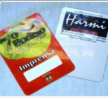 Foto: Cartão e Credencial em PVC