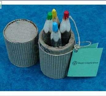 Foto: Lapis de cor reciclado