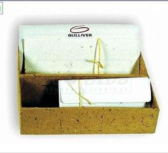 Foto: Kit correspondencia em papel reciclado