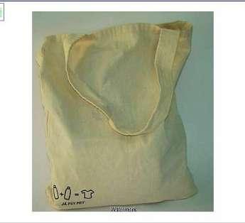 Foto: sacola em lona leve de algodão