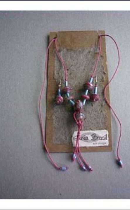 conjunto de colar e brinco de embalagem de absorvente feminino