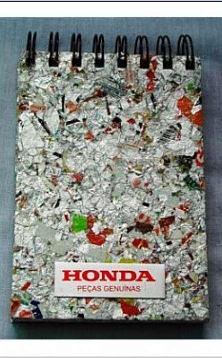 Bloco Reciclado Com Capa de Embalagem Tetrapack - Foto: 1