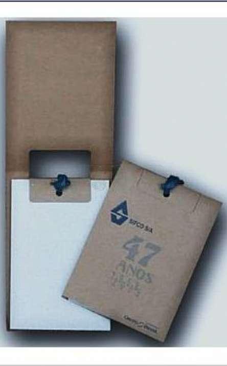 bloco com capa de papel kraft