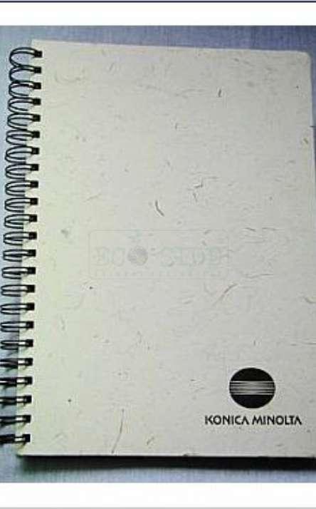 capa em papel artesanal de bambu