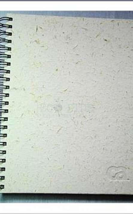 capa em papel artesanal de capim napie