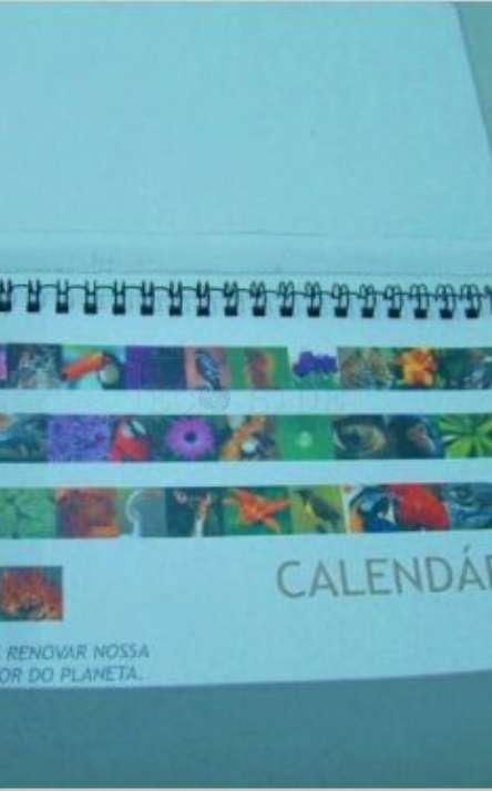 caixa para calendario em papel reciclado