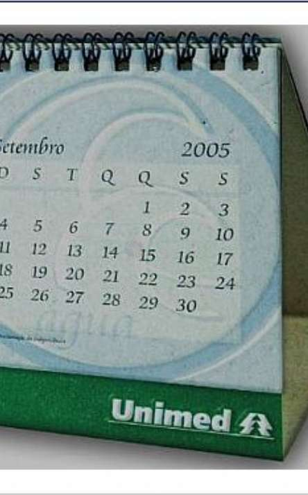 calendario com base flexivel pequeno