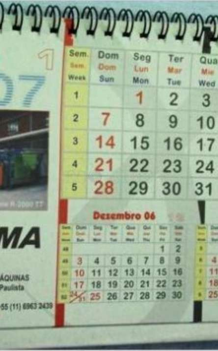 calendario com base flexivel