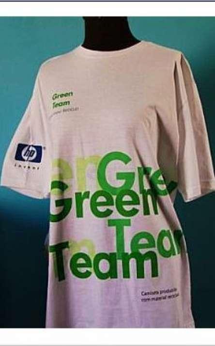 camiseta em malha de pet reciclada gola careca