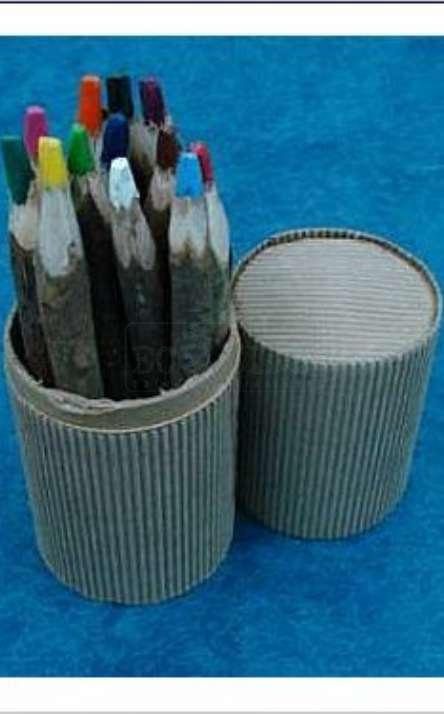 Kit com 12 Lapis de cor reciclado de galhos de poda de arvore