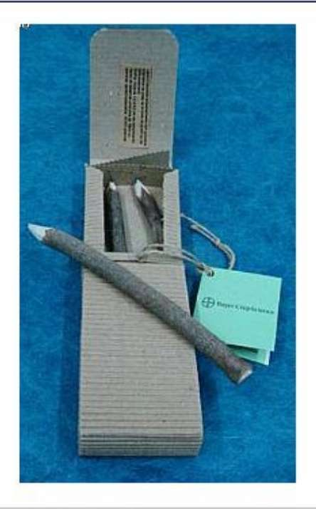 Lapis Preto reciclado de galhos de poda de arvore