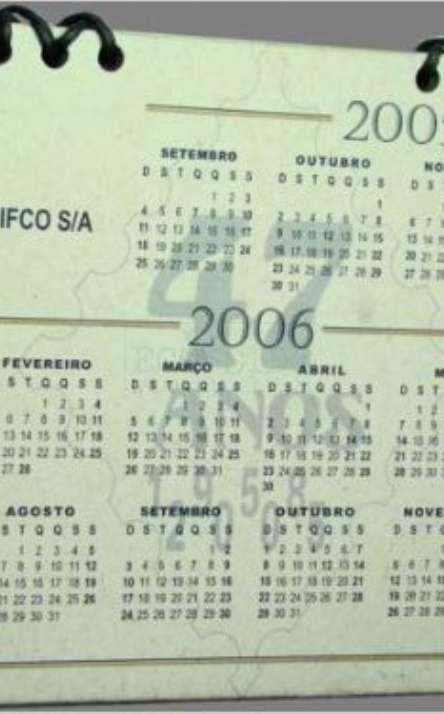 porta retrato com calendario