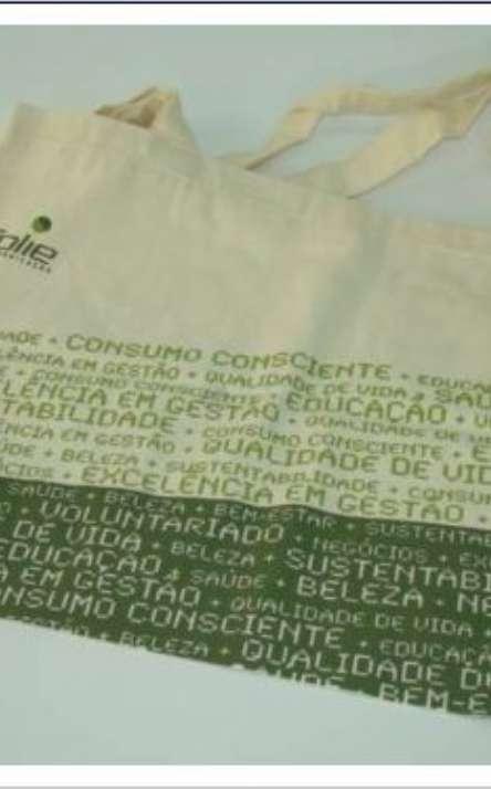 sacola em lona leve de algodão