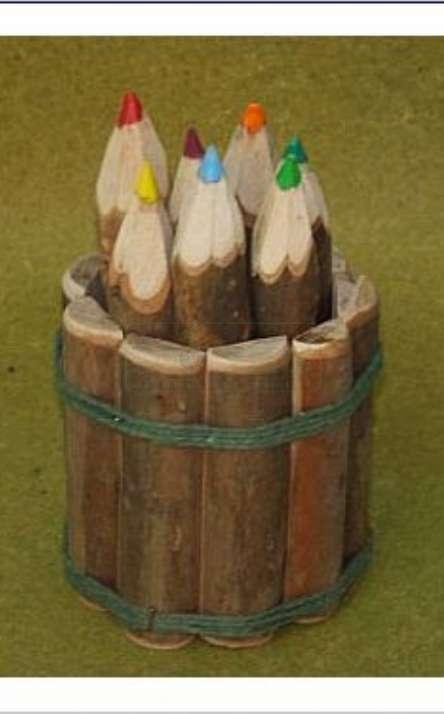 Kit com cachepo de madeira