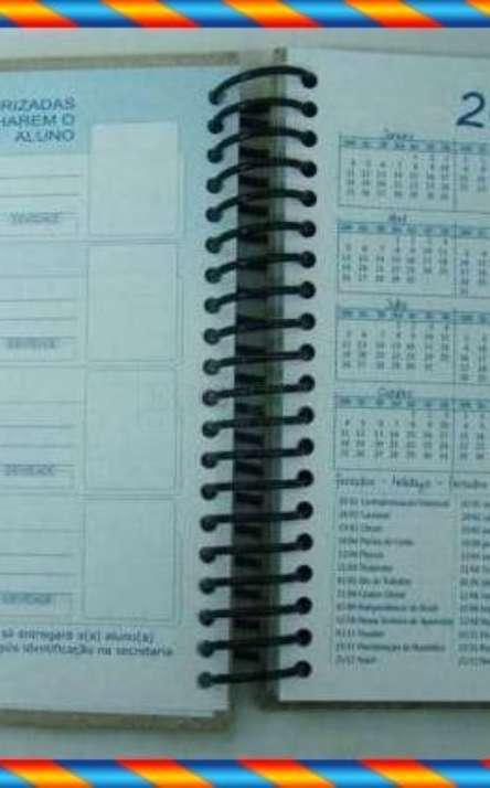 agenda em papel reciclado modelo infantil