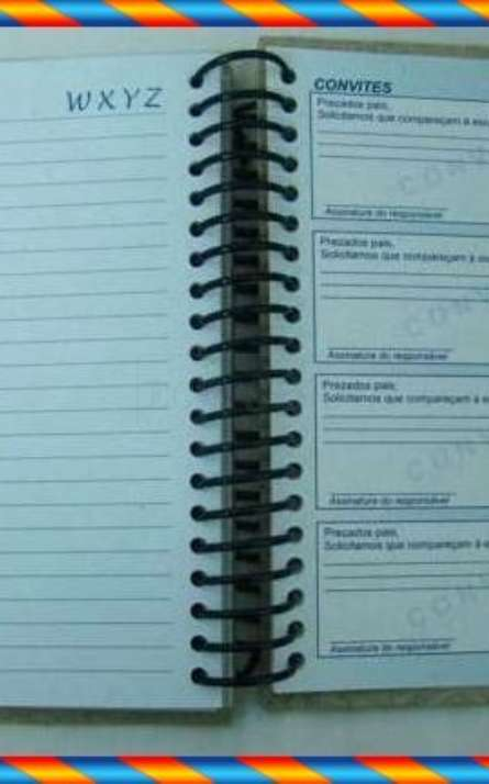 agenda ecologica em papel reciclado