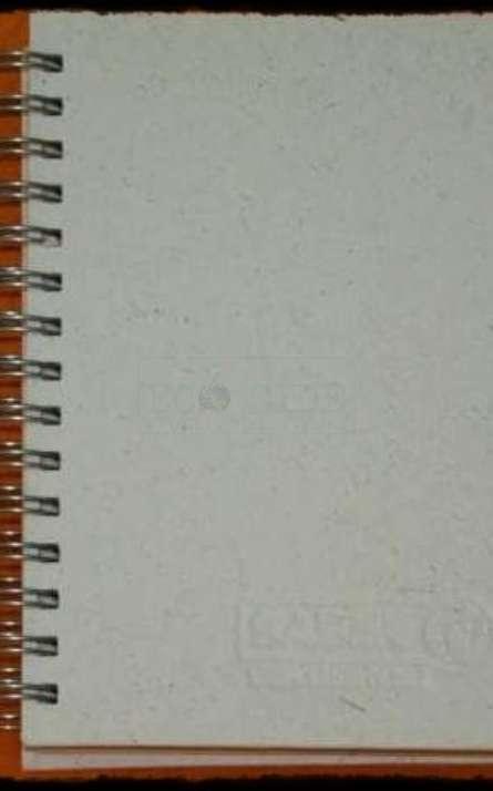 Agenda ecologica capa dura  em papel de fibras naturais com wire-o
