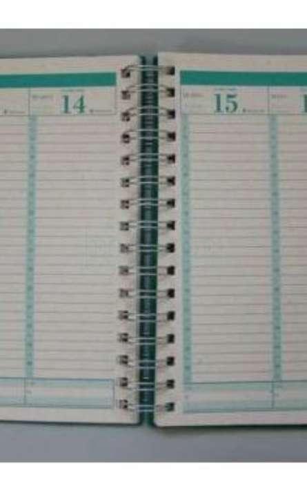 agenda semanal em papel reciclado - Foto: 3