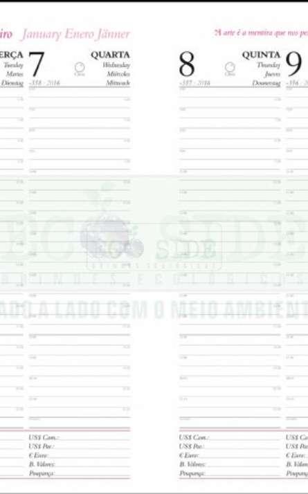 agenda semanal em papel reciclado - Foto: 5